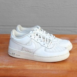Nike Air Force 1 LV8 Summit White Leather Sneakers